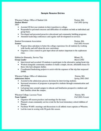 college student resume examples 2016