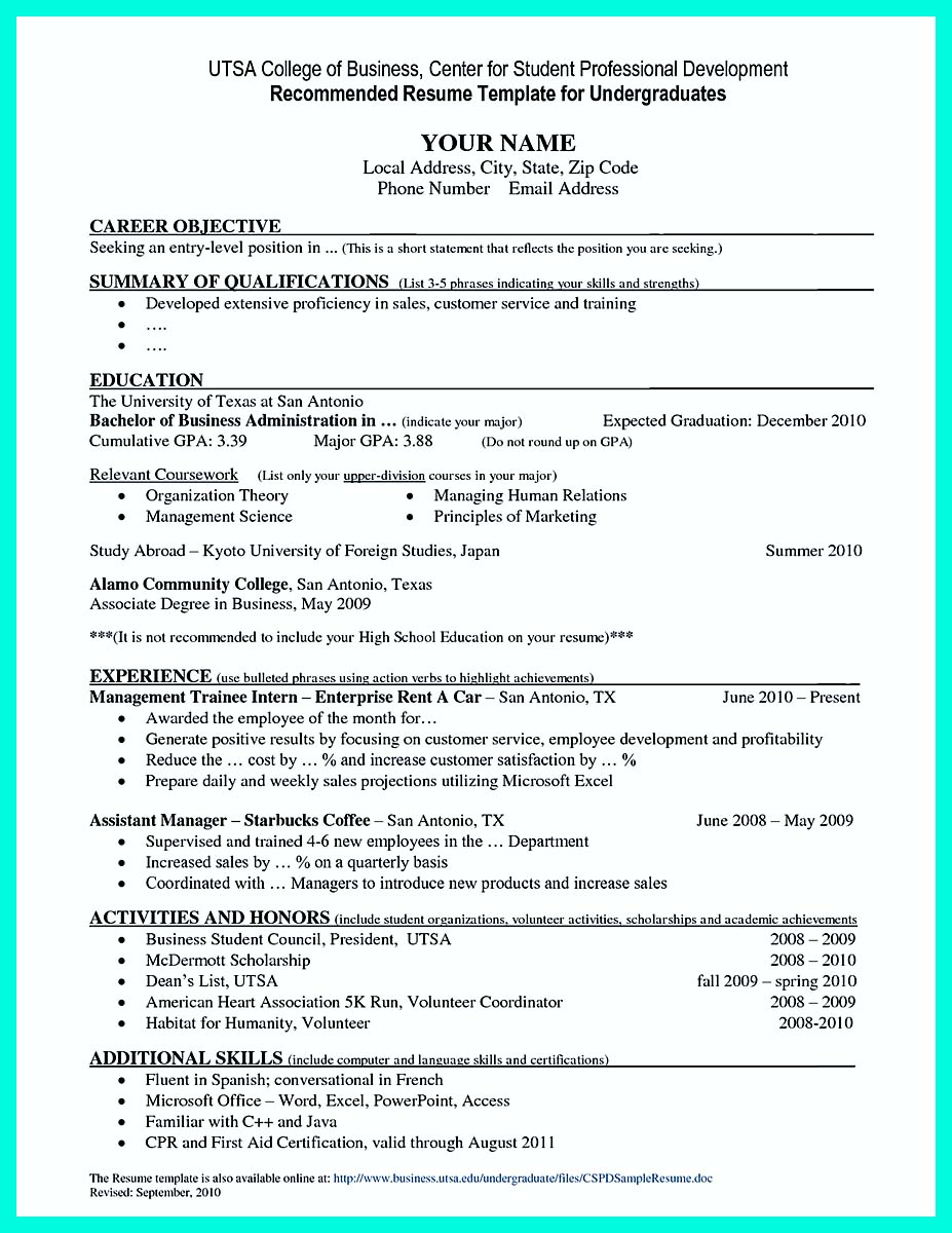 college student resume example to get job instantly how to write