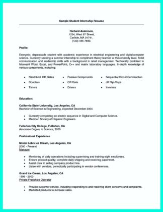 college student resume study abroad