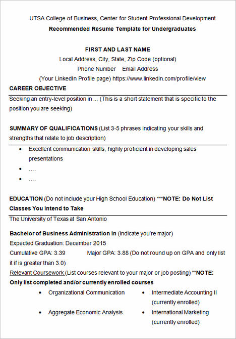 How To Write College Admission Resume
