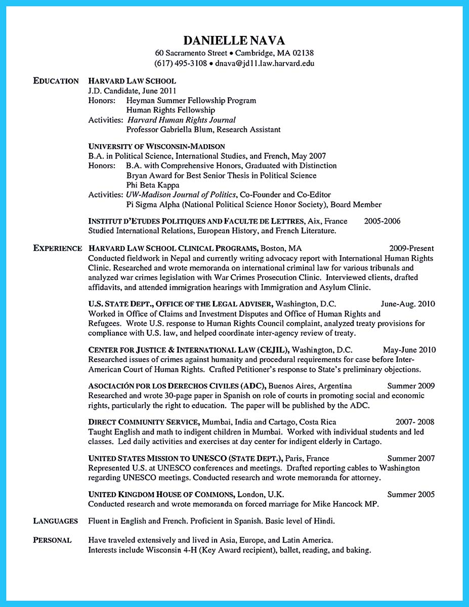 columbia business school resume sample