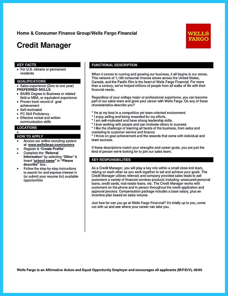 commercial credit analyst resume sample