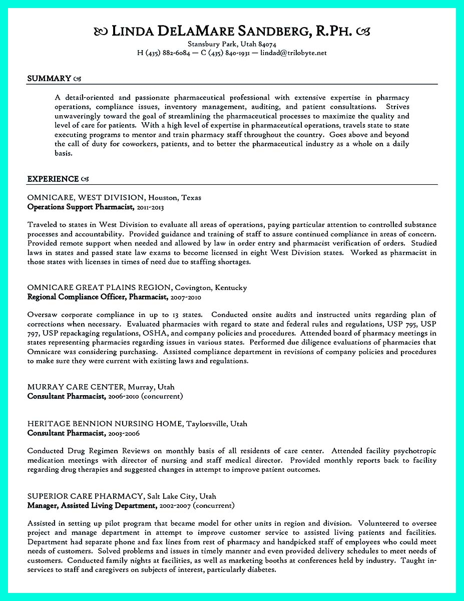 compliance officer resume format
