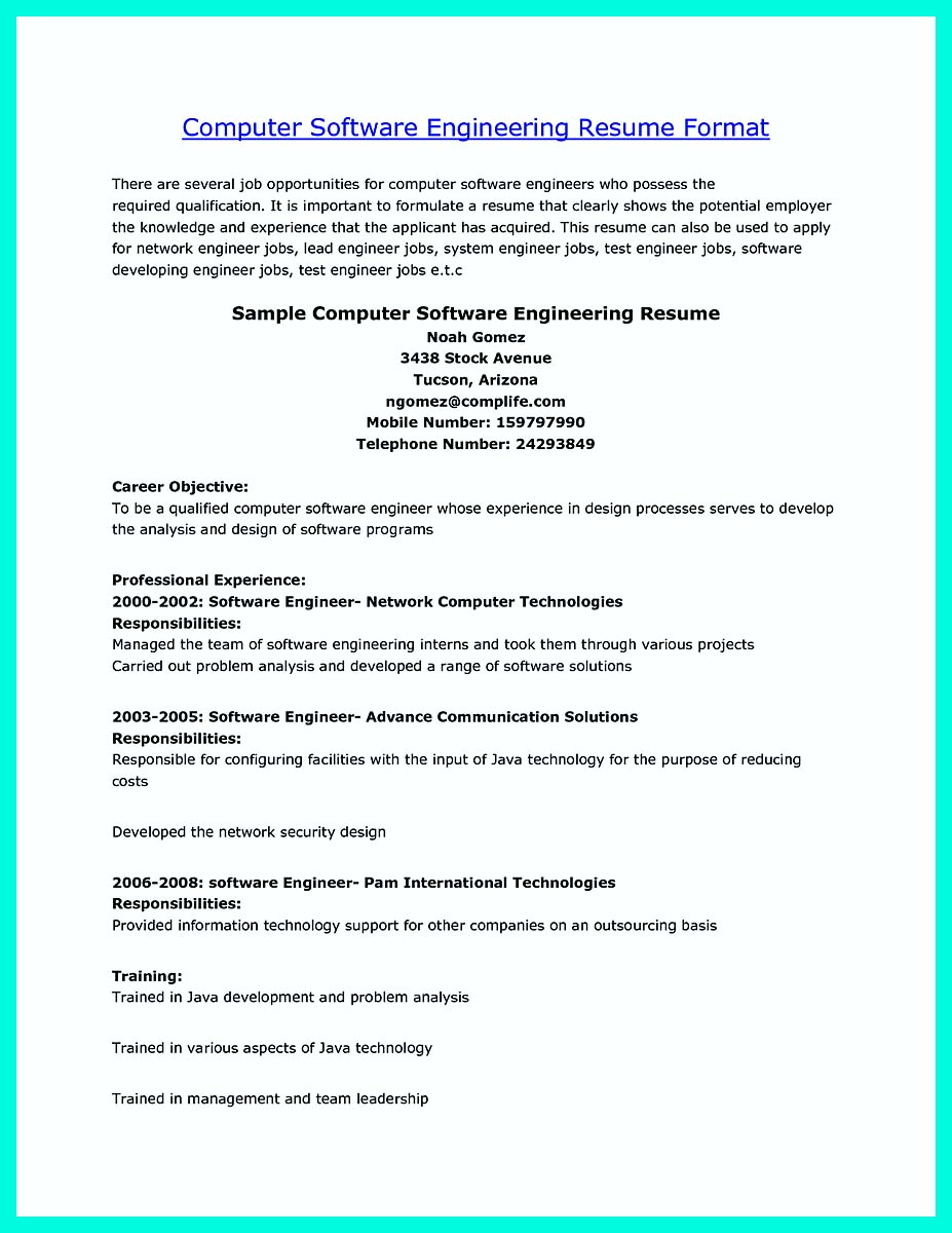 computer engineering resume doc