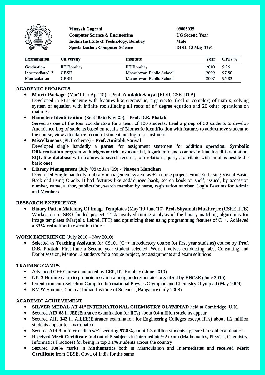 computer engineering resume free download