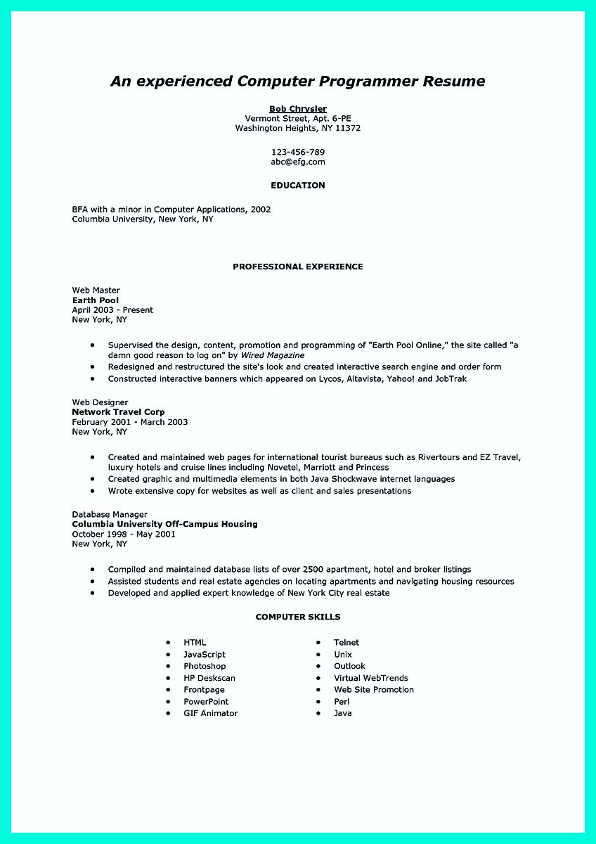 sample database programmer in science cover letter my document - Computer Programmer Cover Letter