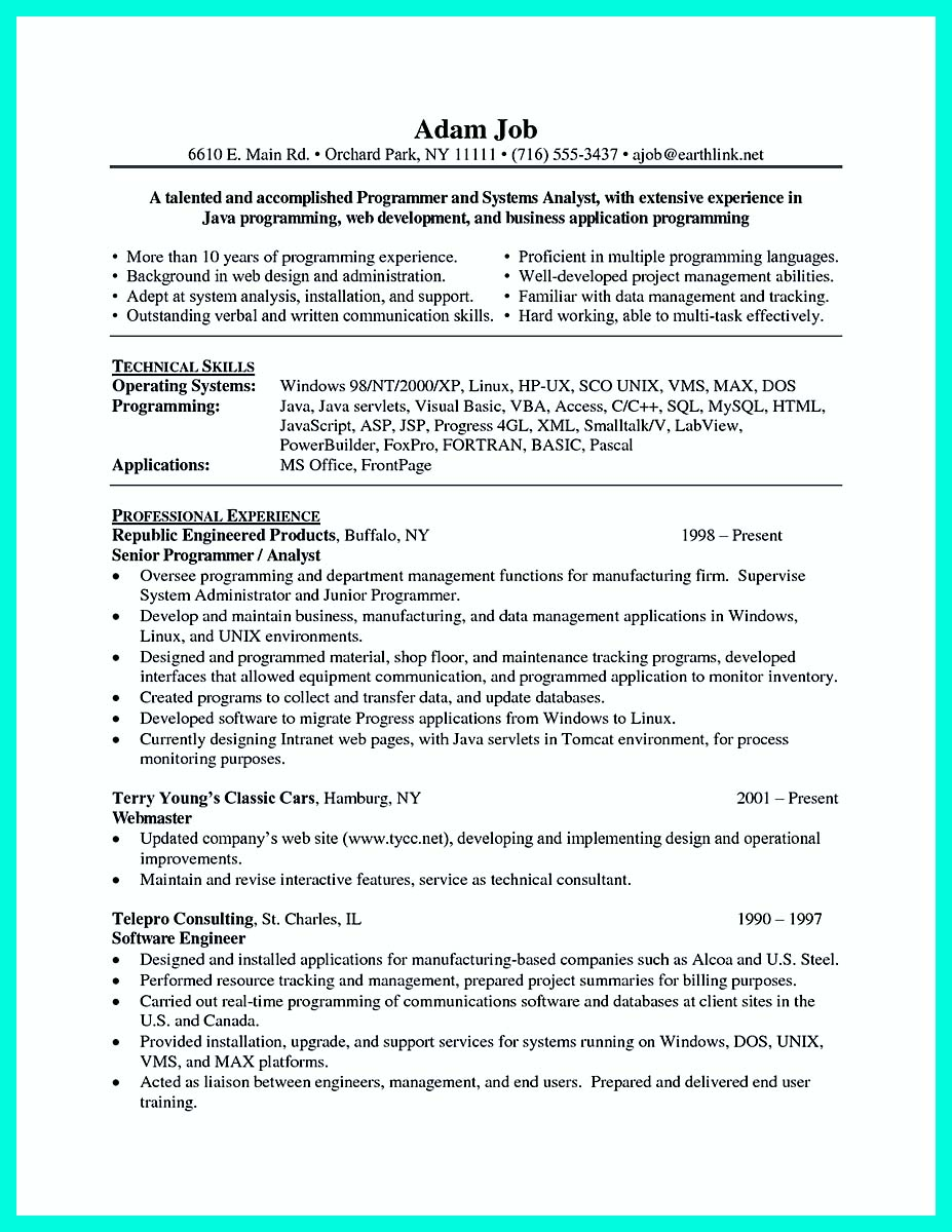 computer programmer resume examples to impress employers how to computer programmer resume examples to impress employers %image computer programmer resume examples to impress employers