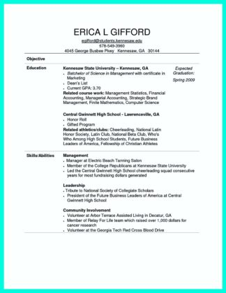 computer science and engineering resume format