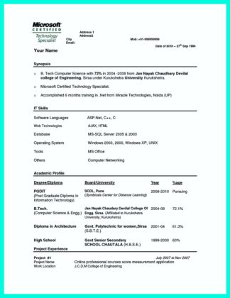the best computer science resume sample collection how to write - Computer Science Resume Sample