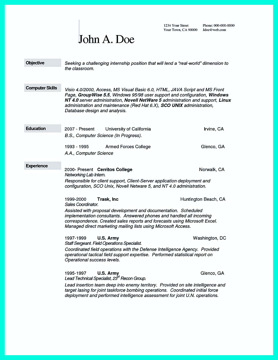 computer science resume action verbs