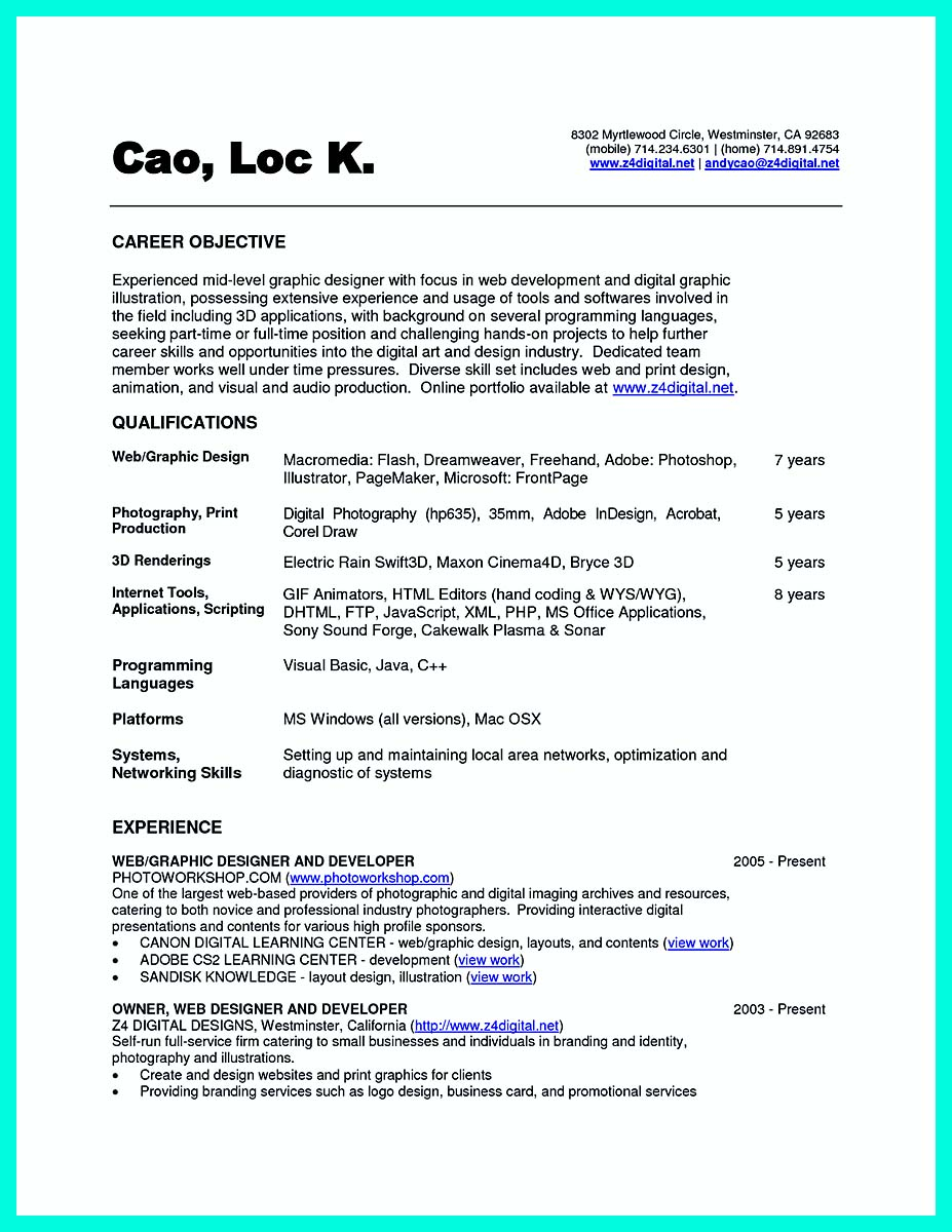 computer science resume www