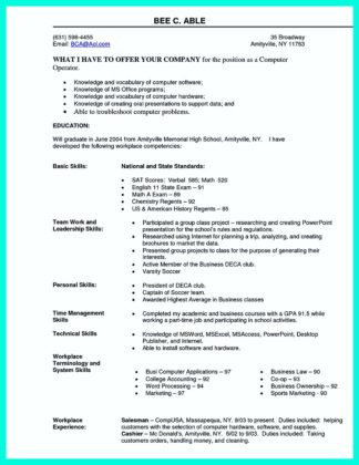 computer science resume google