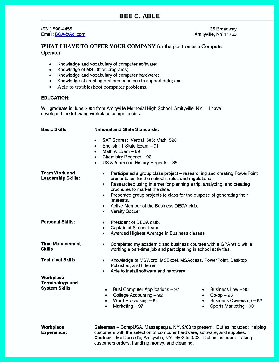 amazing area of interest in computer science in resume pictures - Computer Science Resume Sample