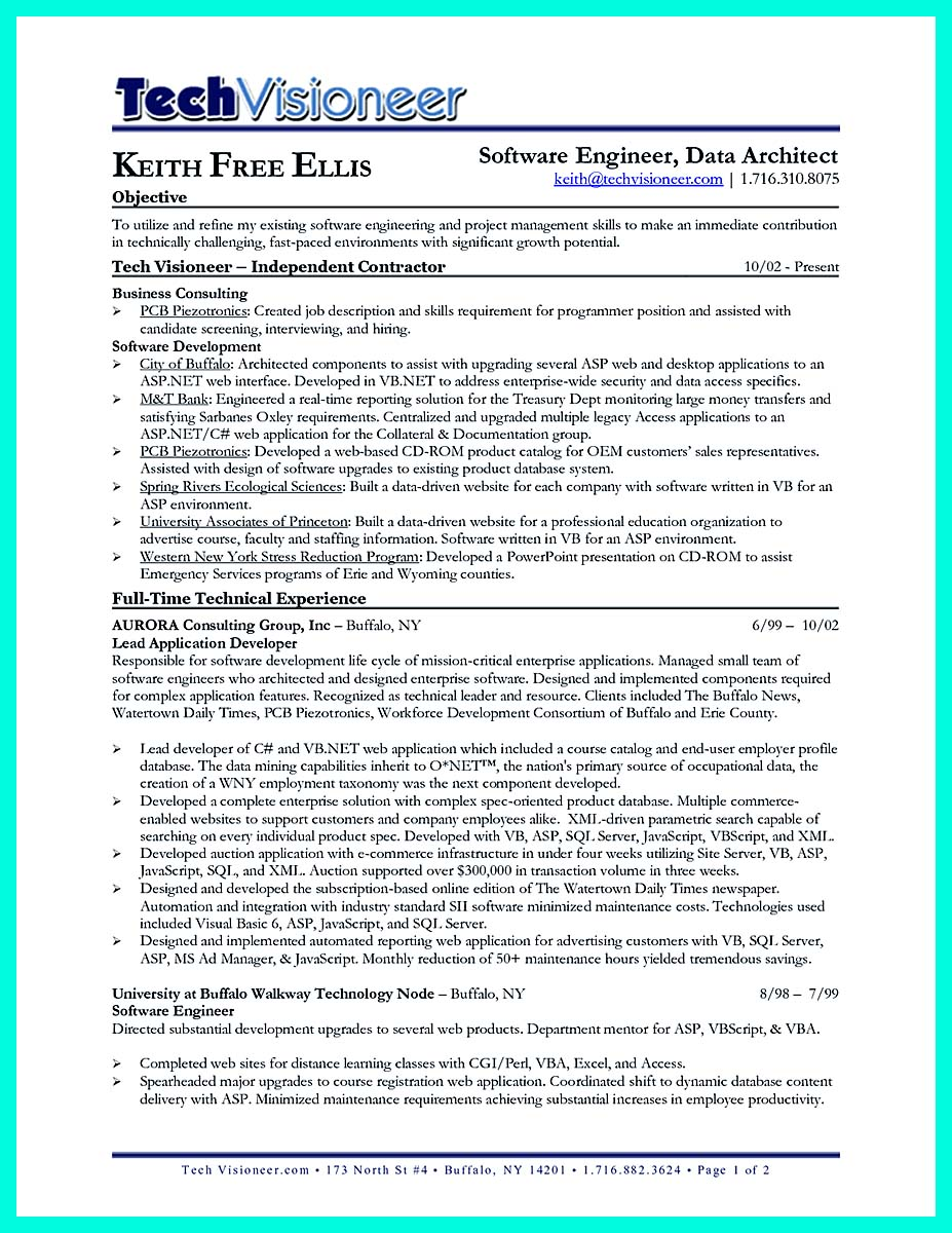 computer science resume template word
