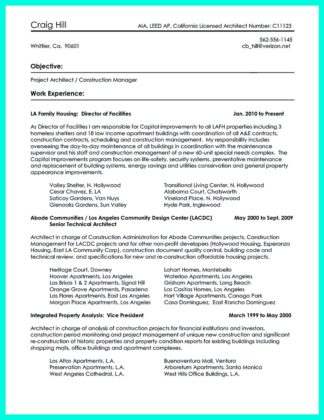 construction management resume cover letter examples