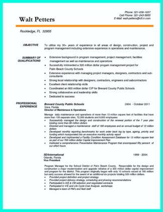 construction manager resume and cover letter