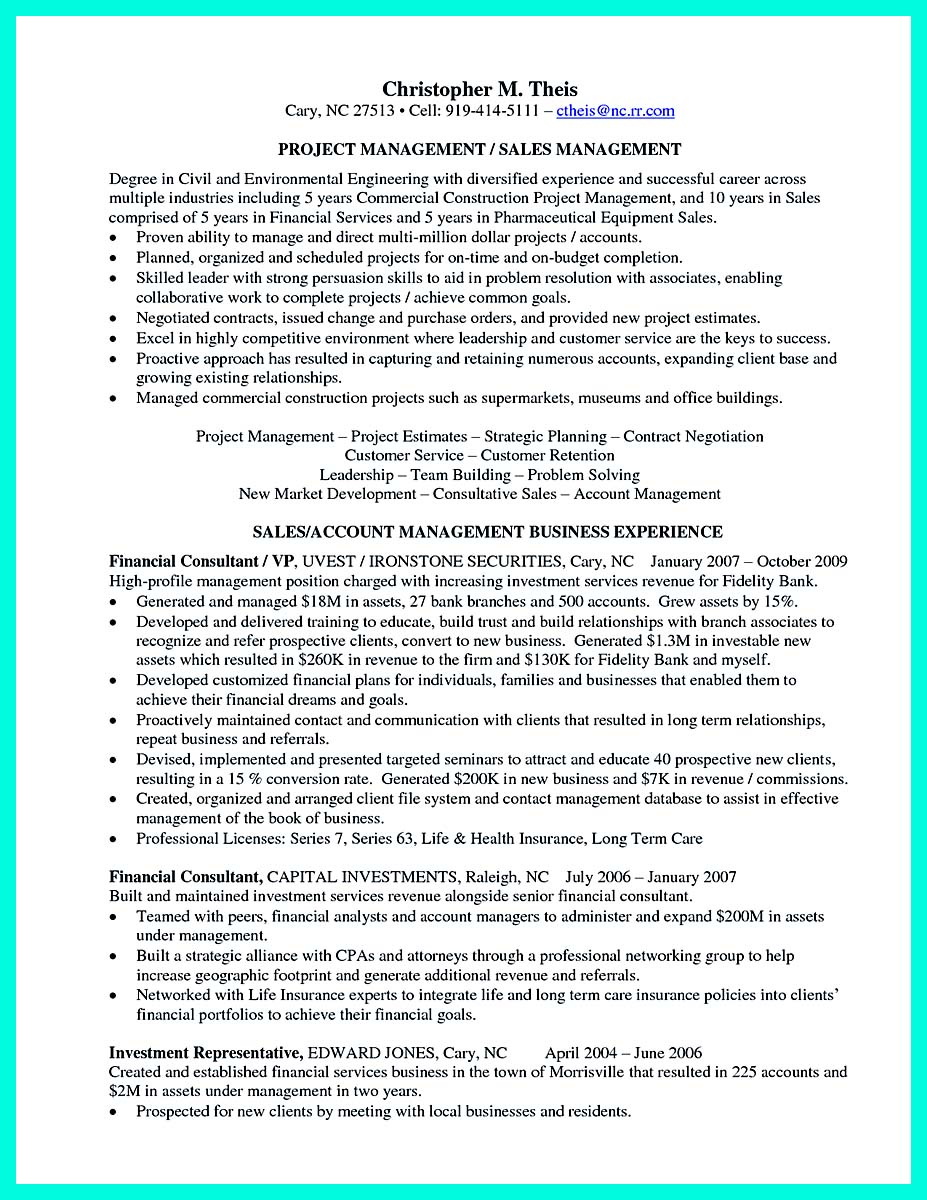 construction project manager resume cover letter