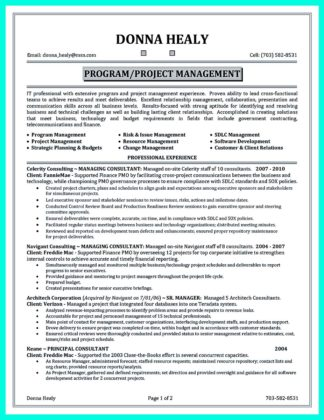 construction project manager resume india