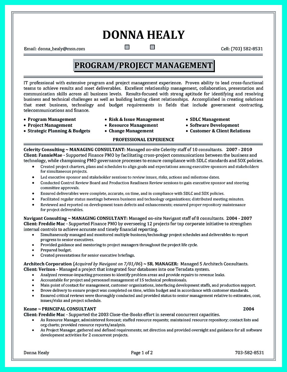 construction project manager resume template project manager cv