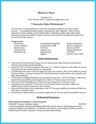 contractor business owner resume