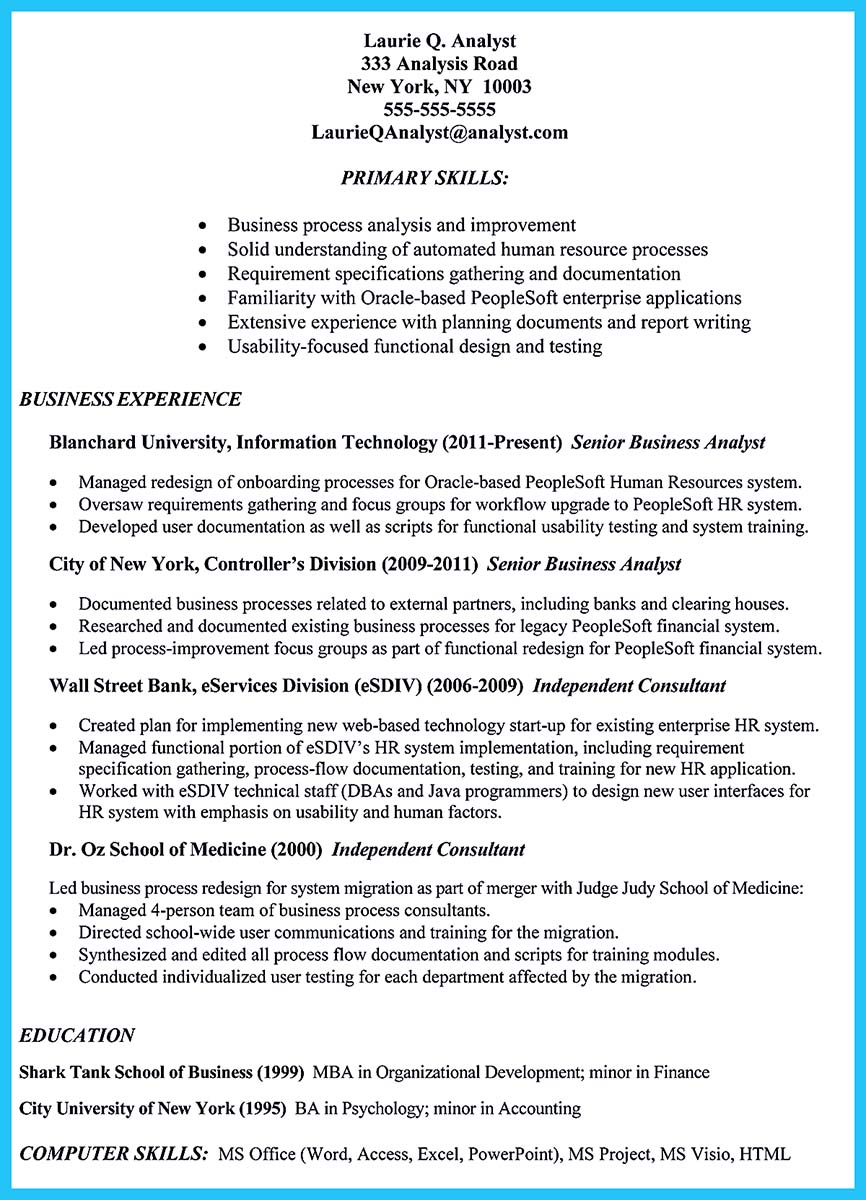 Financial Analyst Resume Examples Entry Level Template Essay Sample Free Human Resources