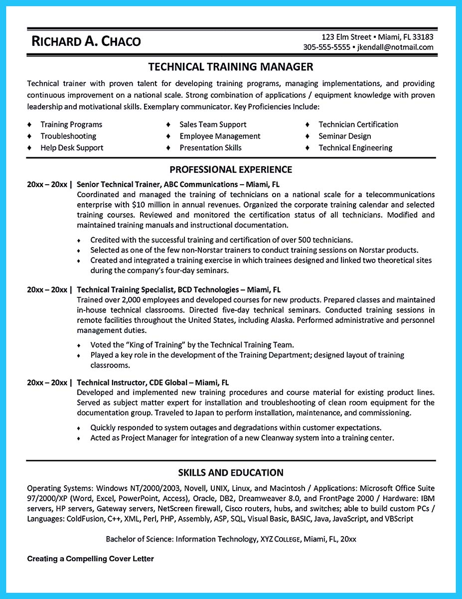 ... Corporate Trainer Resume Pdf ...