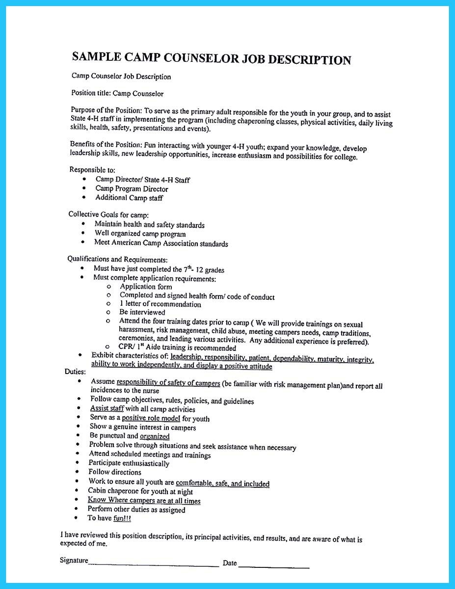 resume description of camp counselor camp counselor resume resume templates account representative cover letter lance writer