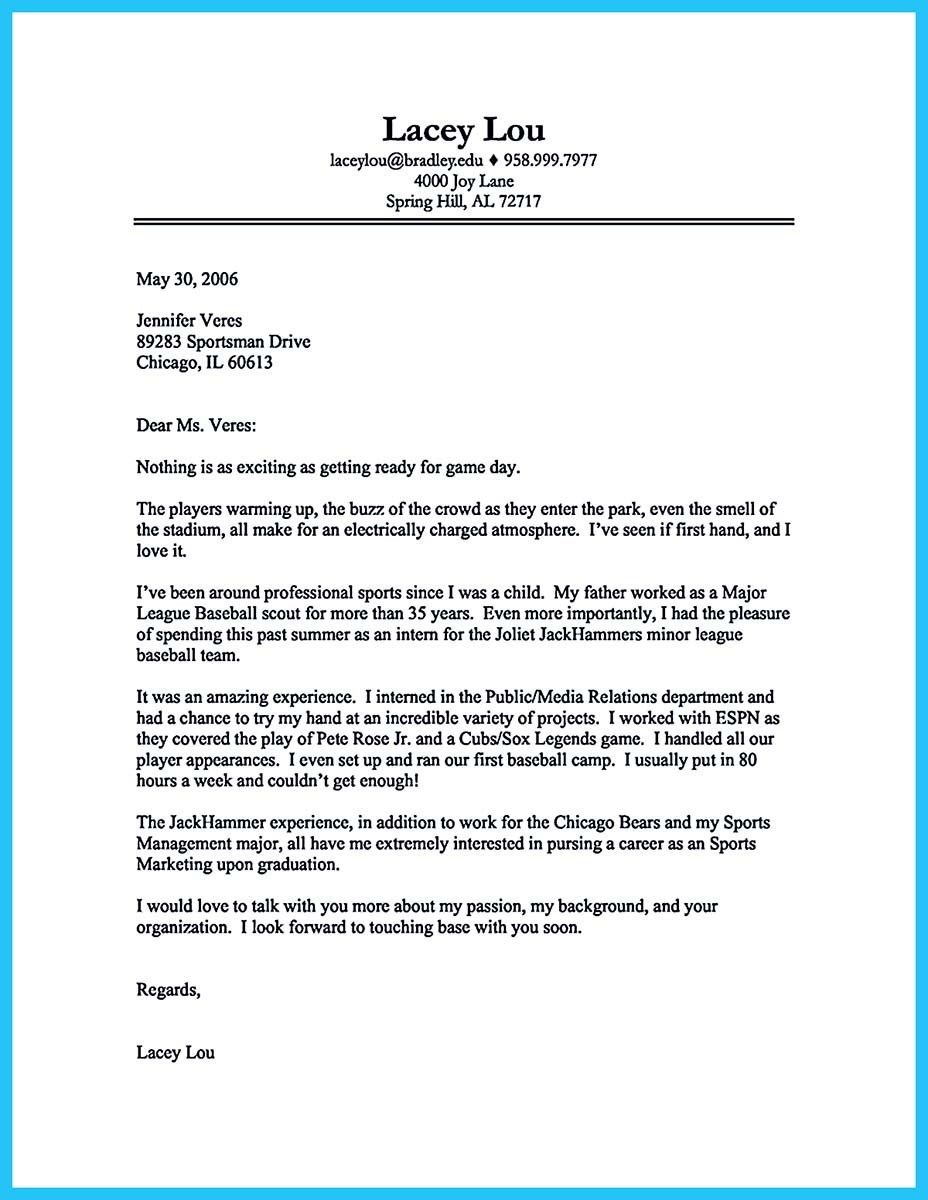 cover-letter-sports-01 Job Application Letter Format And Parts on