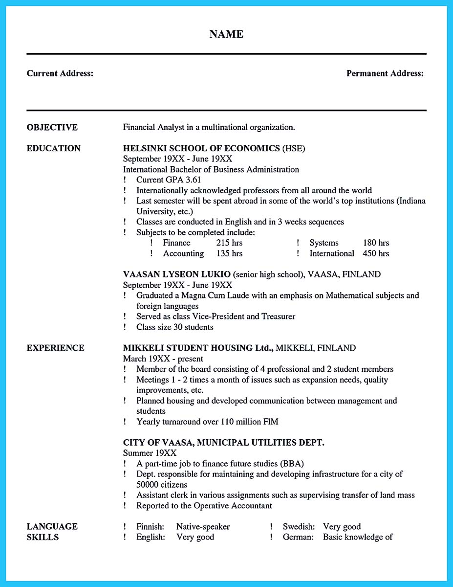 International Extensive How To Write Cover Letter For Job Accountant Example  Profit Business Analyst Loss Associated  Financial Analyst Resume Objective