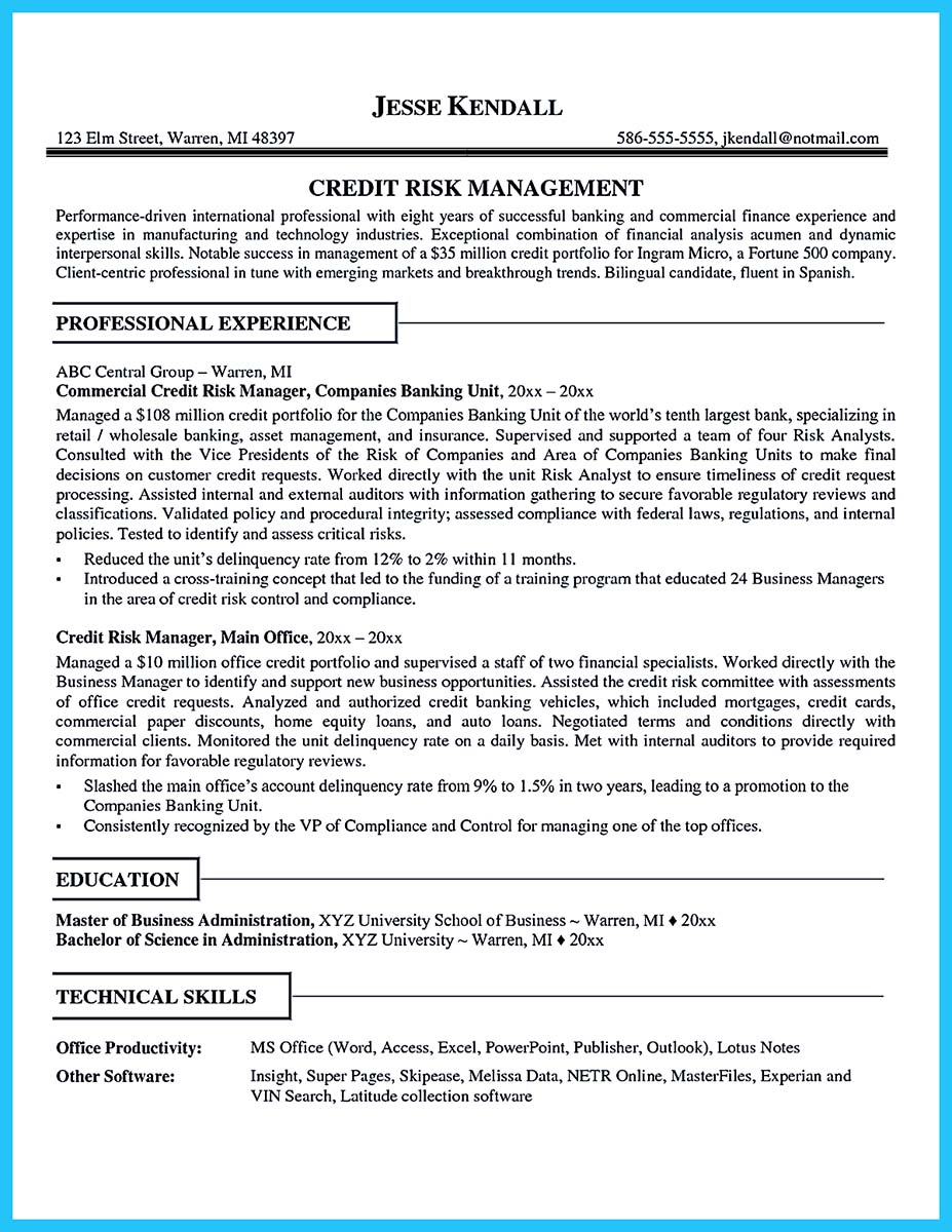 credit analyst resume keywords