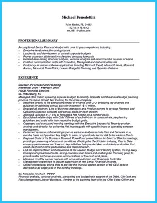 credit analyst resume objective examples