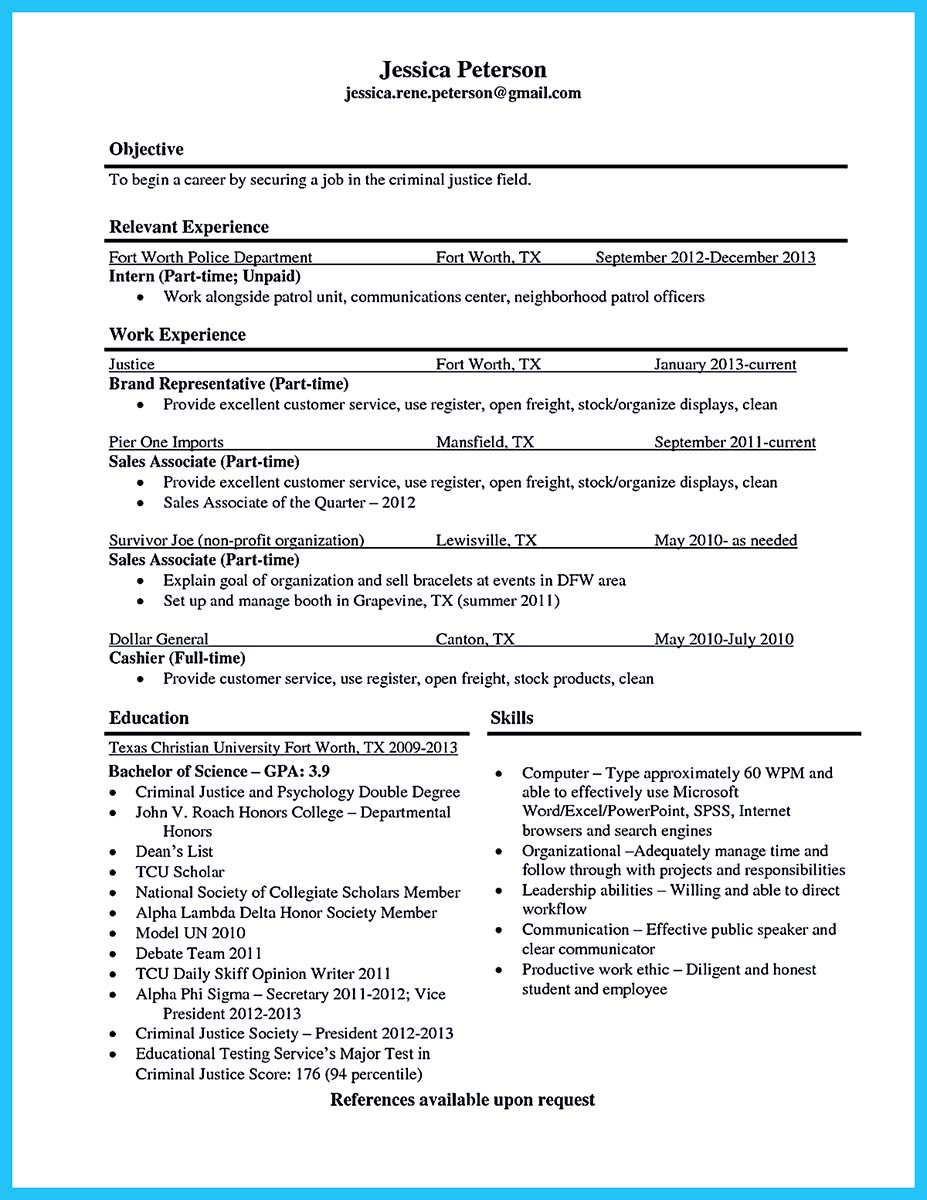 How To Start Off A Resume Word Best Criminal Justice Resume Collection From Professionals Team Player Resume Pdf with Receptionist Resume Examples Word  Criminal Justice Resume Buzzwords  Brand Ambassador Resume Sample