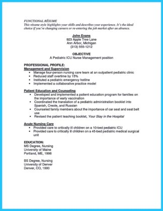 Critical care rn resume