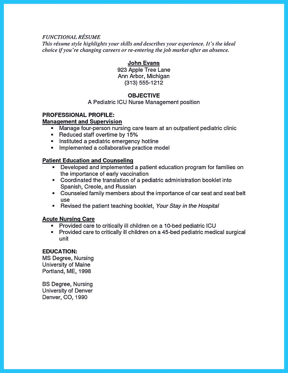samples of nursing resumes resume cv cover letter