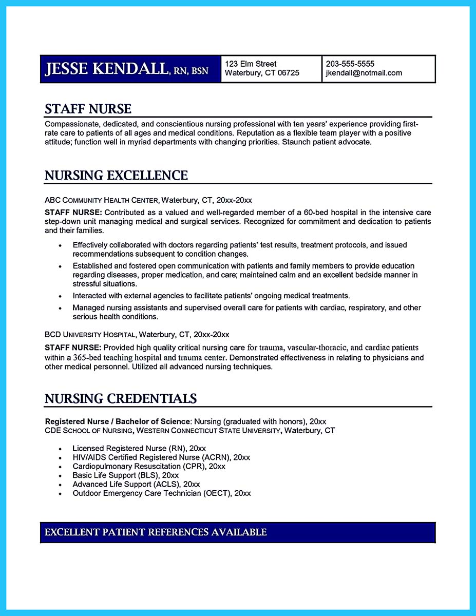 Icu nurse resume examples
