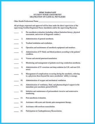 crna application resume