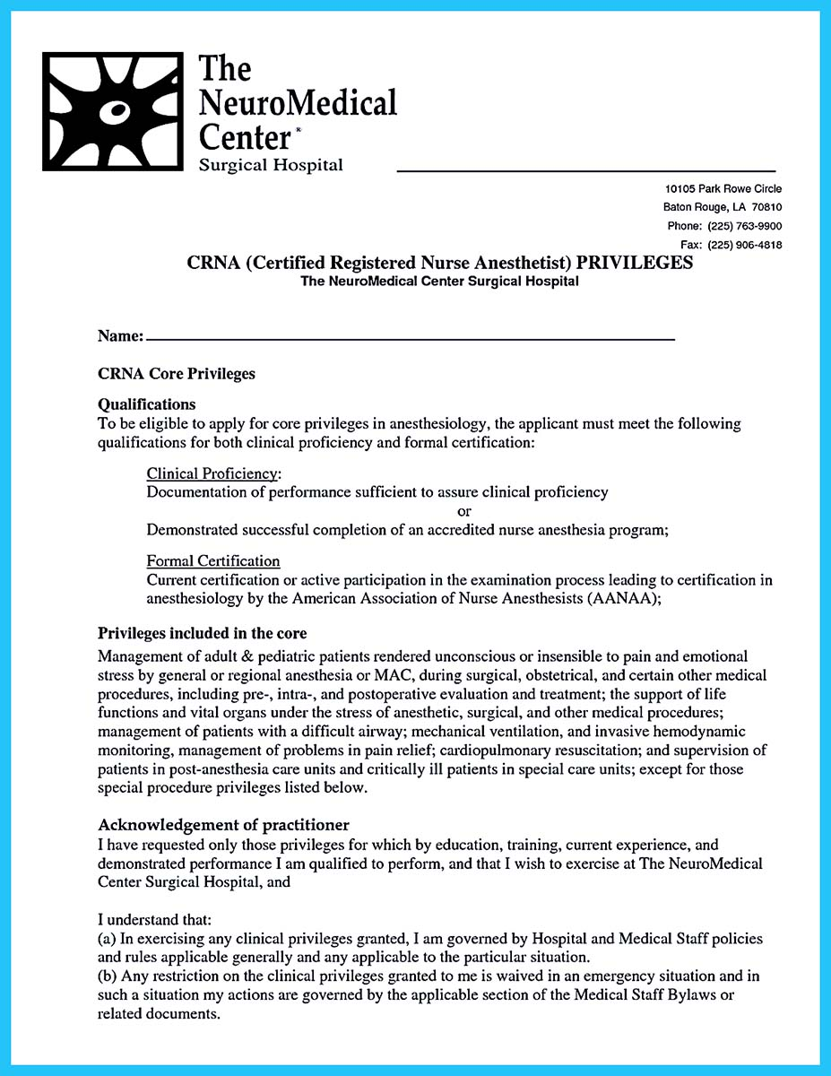 crna new grad resume