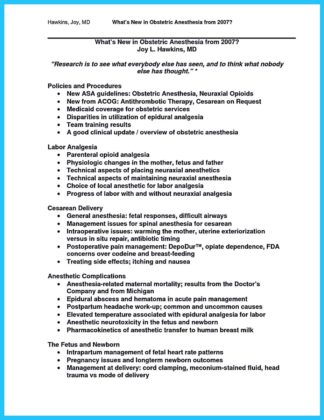 crna school application resume