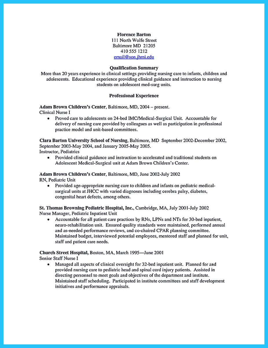 nurse resume example sample example of resume student and carpinteria rural friedrich