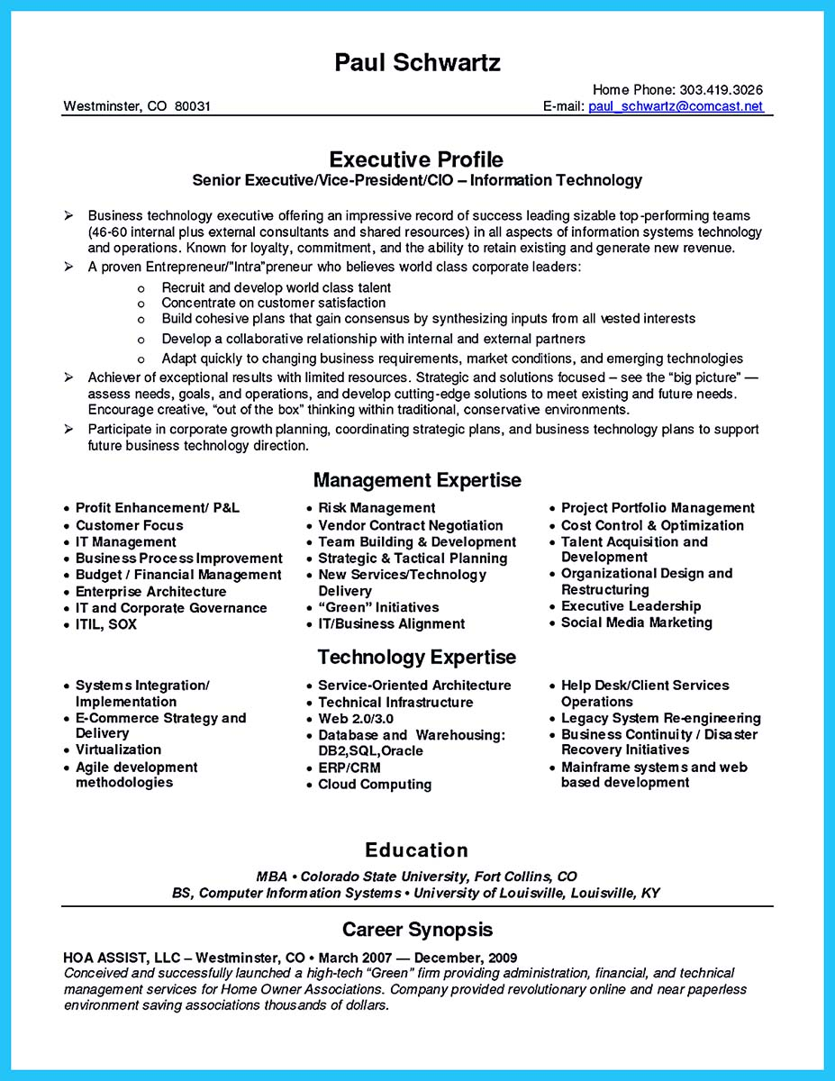 Outstanding Cto Resume For Professionals How To Write A Doc