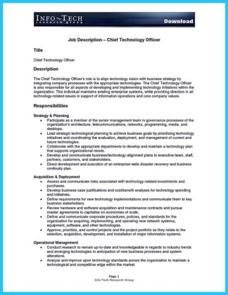 Cto Job Description Chic Ideas Executive Resume Examples Best Ideas