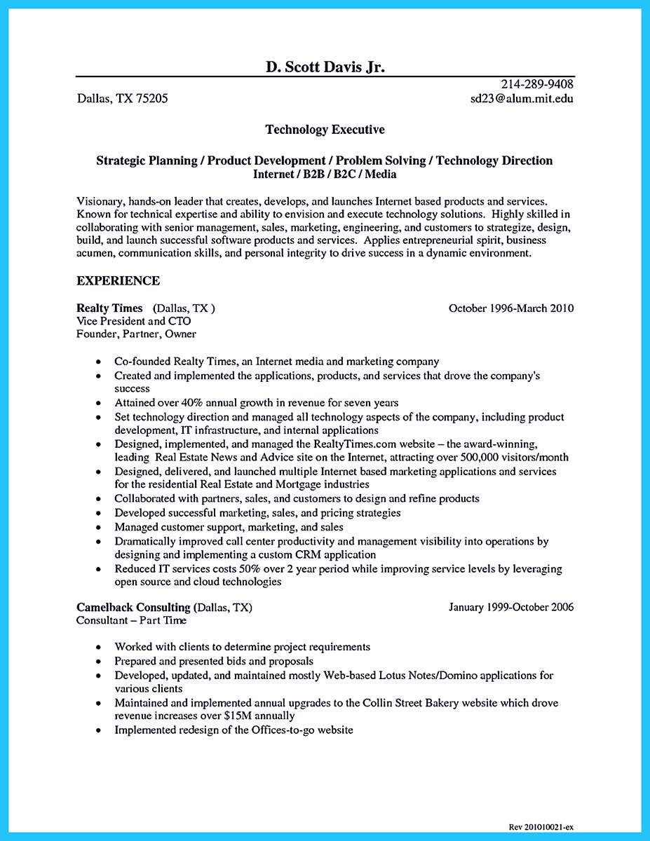cto resume writing services