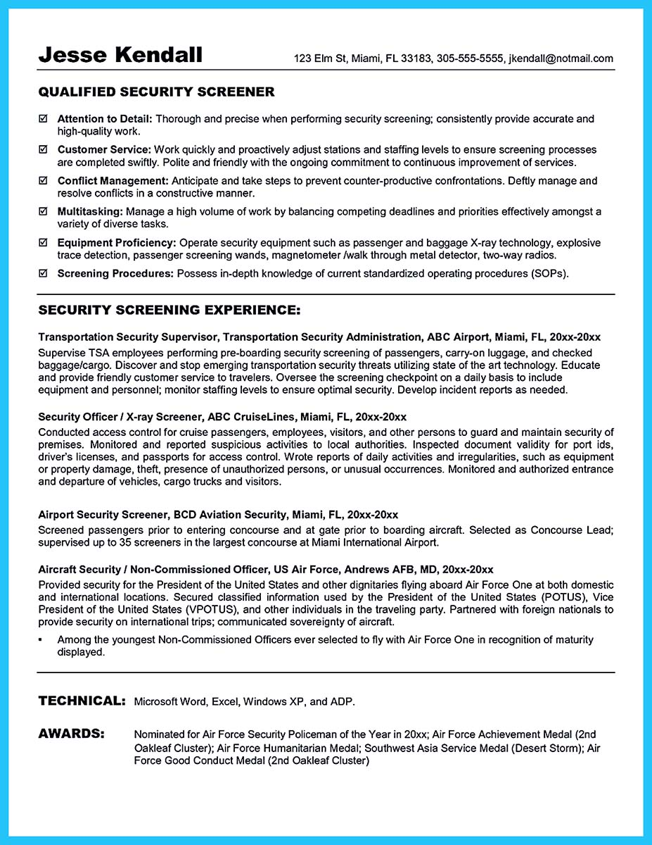 cyber security resume skills