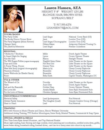 The Best and Impressive Dance Resume Examples Collections  %Image NameThe Best and Impressive Dance Resume Examples Collections  %Image Name