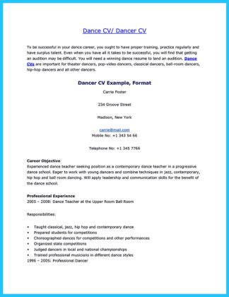 The Best and Impressive Dance Resume Examples Collections  %Image NameThe Best and Impressive Dance Resume Examples Collections  %Image NameThe Best and Impressive Dance Resume Examples Collections  %Image Name