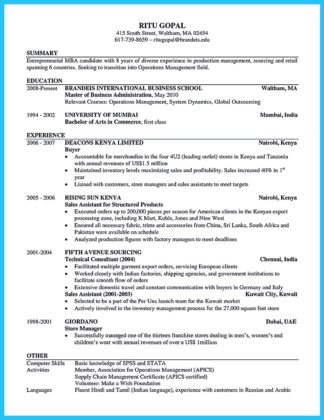 darla moore business school resume template