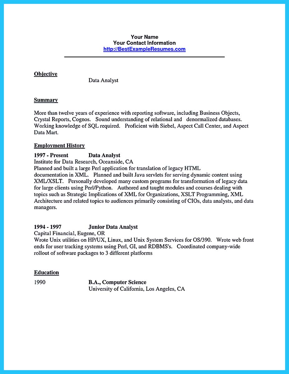 high quality data analyst resume sample from professionals how to