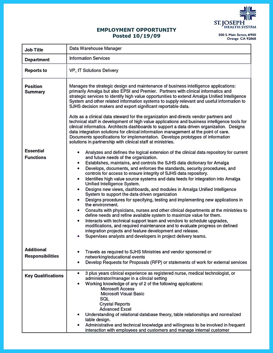 Cover Letter For Computer System Analyst