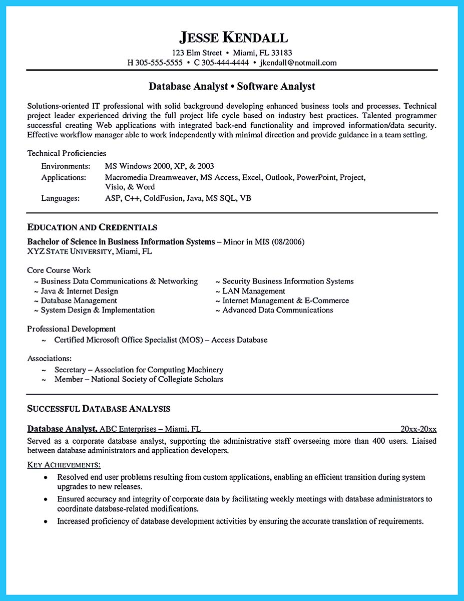 sample data analyst resumes