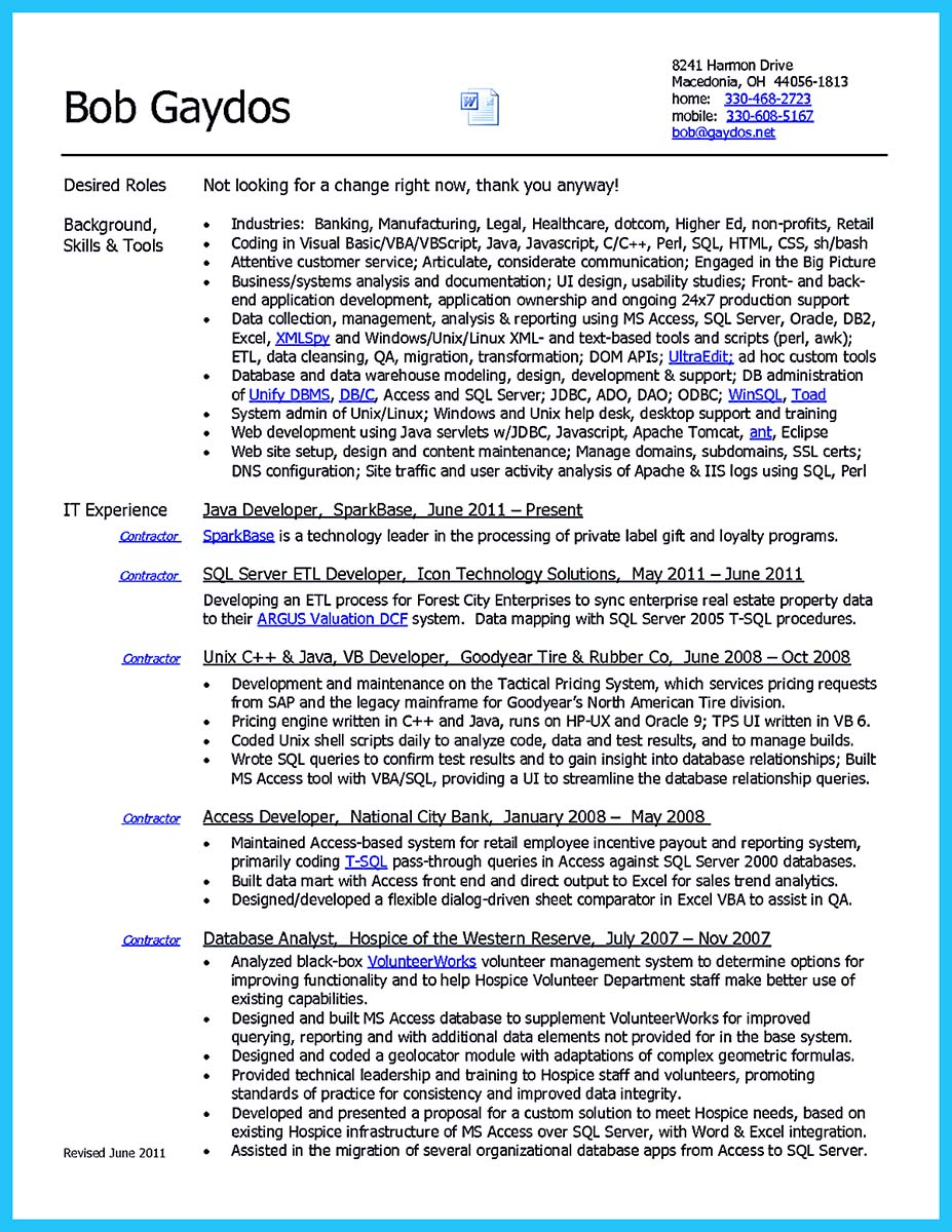 High Quality Data Analyst Resume